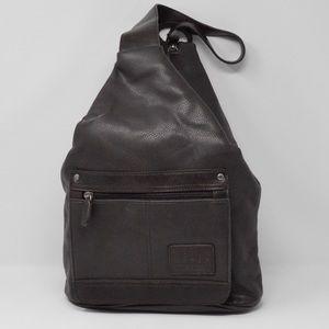 Relic Brown Genuine Leather Sling Shoulder Bag